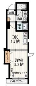 牛込神楽坂駅 徒歩7分3階Fの間取り画像
