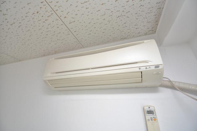 プレアール菱屋西 エアコンがあるのはうれしいですね。ちょっぴり得した気分。