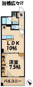 はるひ野駅 徒歩3分3階Fの間取り画像