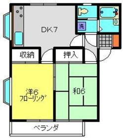 ハイツカモミール1階Fの間取り画像