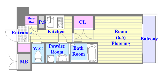 CASSIA高井田NorthCourt セパレートでしっかりしてるお部屋です。
