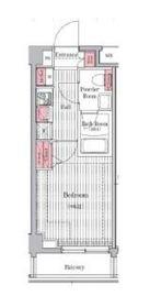 プレール・ドゥーク元住吉4階Fの間取り画像