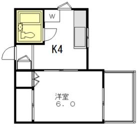 シャンエトワール2階Fの間取り画像