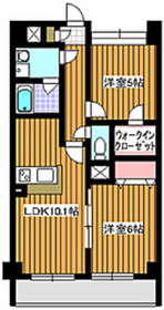 地下鉄赤塚駅 徒歩7分2階Fの間取り画像