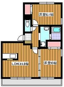ステラパーク1階Fの間取り画像