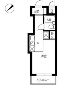 スカイコート世田谷用賀4階Fの間取り画像