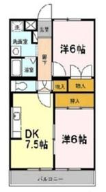 エバーヒルマンション2階Fの間取り画像