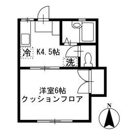 コーポ・カルテット1階Fの間取り画像