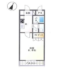 ポスト・マローネ5階Fの間取り画像