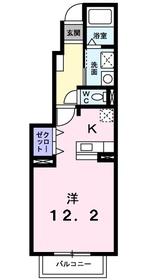 ベリーリーフ1階Fの間取り画像