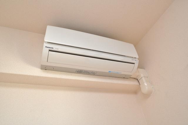 ノーブル布施 エアコンが最初からついているなんて、本当にうれしい限りです。