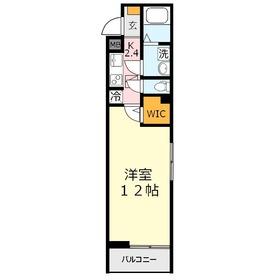 ルーモベルビ・トロア1階Fの間取り画像