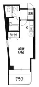 武蔵中原駅 徒歩25分1階Fの間取り画像