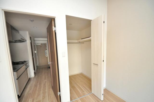 スタシオン俊徳道 もちろん収納スペースも確保。いたれりつくせりのお部屋です。