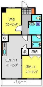 エルミタージュ横浜ベイ1階Fの間取り画像