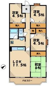 キアリアヒルズ4階Fの間取り画像