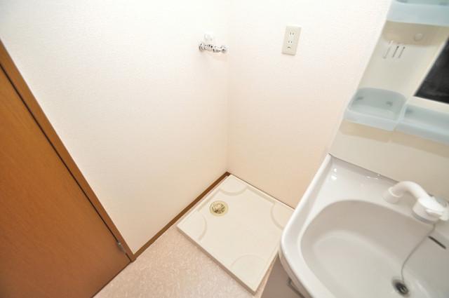 サンハイツ横沼 洗濯機置場が室内にあると本当に助かりますよね。