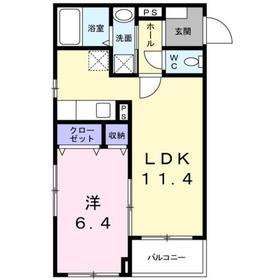 クロシェット2階Fの間取り画像