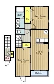 メゾン グラン2階Fの間取り画像