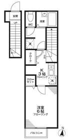アイビーコート2階Fの間取り画像