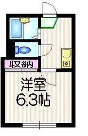 Eフラット2階Fの間取り画像