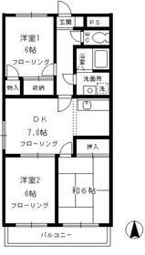 パレ・アージュ3階Fの間取り画像