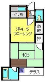 第一南荘1階Fの間取り画像