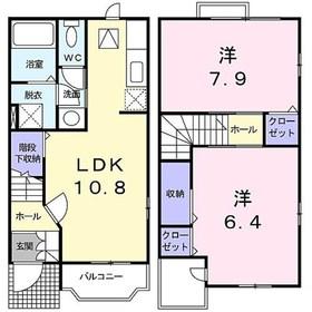 ディアコート鎌倉I2階Fの間取り画像