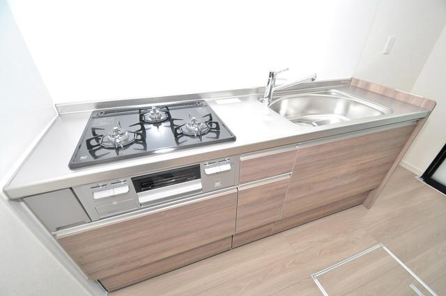 シャーメゾンプランタン システムキッチンは広々と使えて、お料理が楽しくなります。