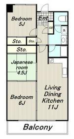 メゾンドエトワール6階Fの間取り画像