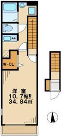 リブリYotsuya2階Fの間取り画像