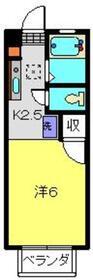 サニーヒルセイ1階Fの間取り画像