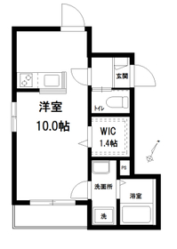 レルシアコートA2階Fの間取り画像