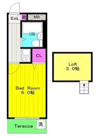 リバティパレス2階Fの間取り画像