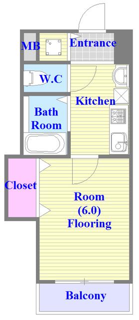 CITY SPIRE布施(ラグゼ布施) バストイレがセパレート、独立洗面所のある使い易い間取りです。