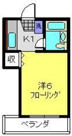 メゾン丸谷2階Fの間取り画像