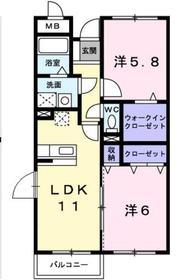 エル・ファーレB2階Fの間取り画像