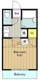 鶴間駅 バス3分「十一条」徒歩11分1階Fの間取り画像