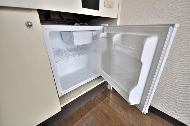ライラック小阪 嬉しいミニ冷蔵庫付きです。家電代1つ分浮きましたね。