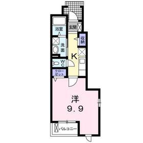 砂川七番駅 徒歩5分1階Fの間取り画像