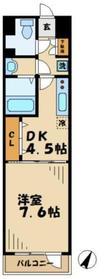 アネシス1階Fの間取り画像