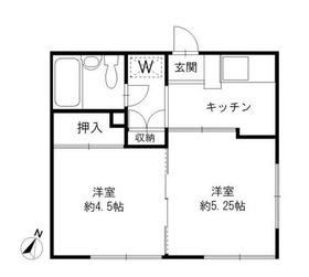 南太田駅 徒歩16分2階Fの間取り画像