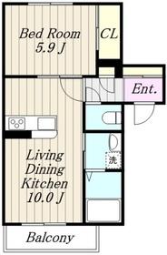 アメニティー相模原南橋本1丁目新築マンション1階Fの間取り画像