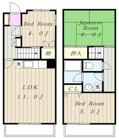 アスリートタウンKOIZUMI8階Fの間取り画像