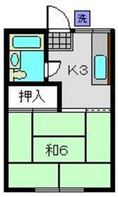 コタニハウス2階Fの間取り画像