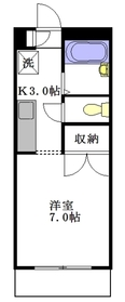 ファミール田中2階Fの間取り画像