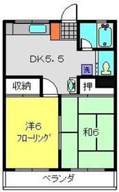 鴨居駅 徒歩3分2階Fの間取り画像