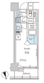 パークアクシス築地8階Fの間取り画像