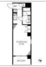 リエス横浜ベイステージ4階Fの間取り画像