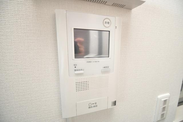 プレミアム菱屋西 モニター付きインターフォンでセキュリティ対策もバッチリ。